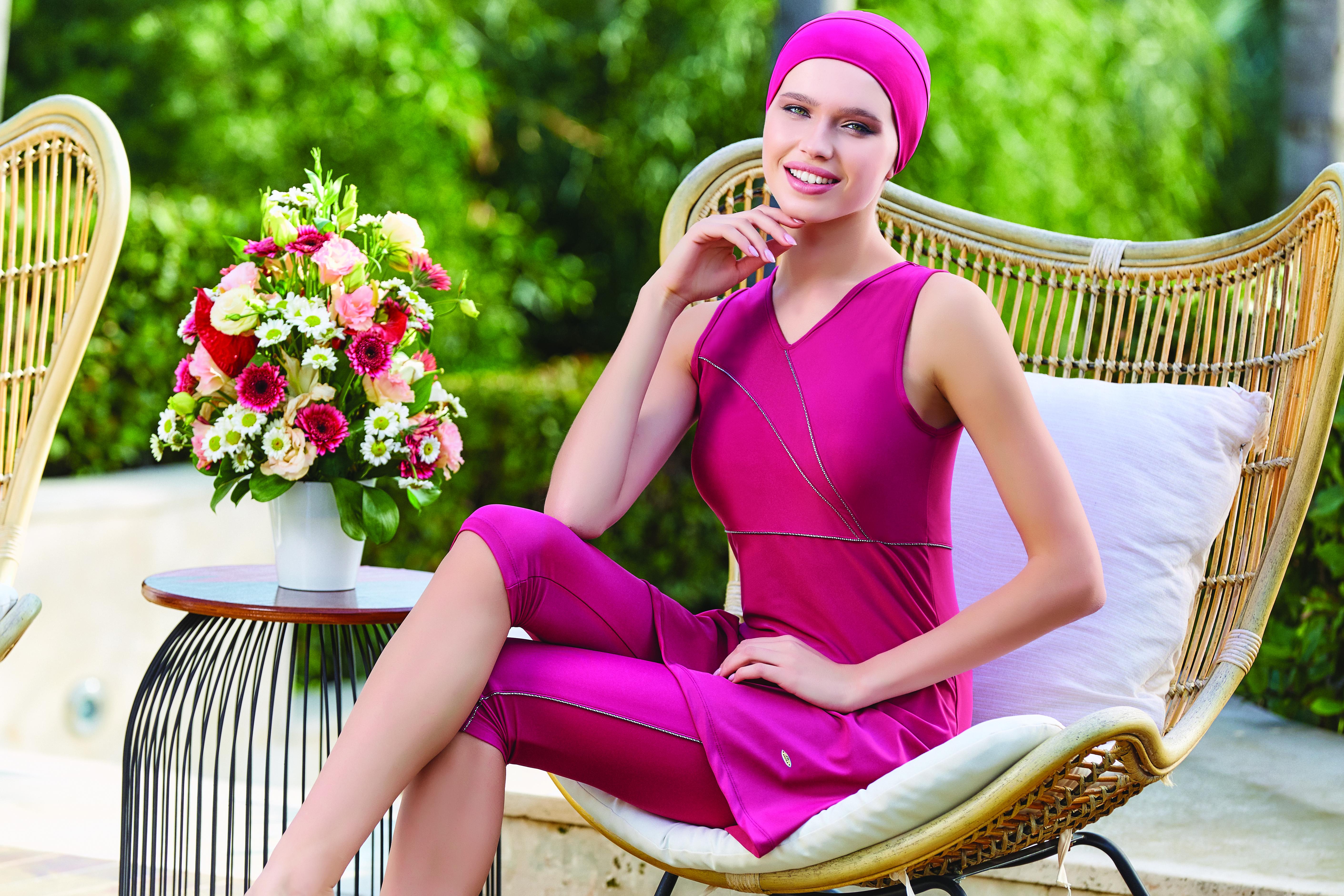 3065 Accent roze boerkini Elif Boutique