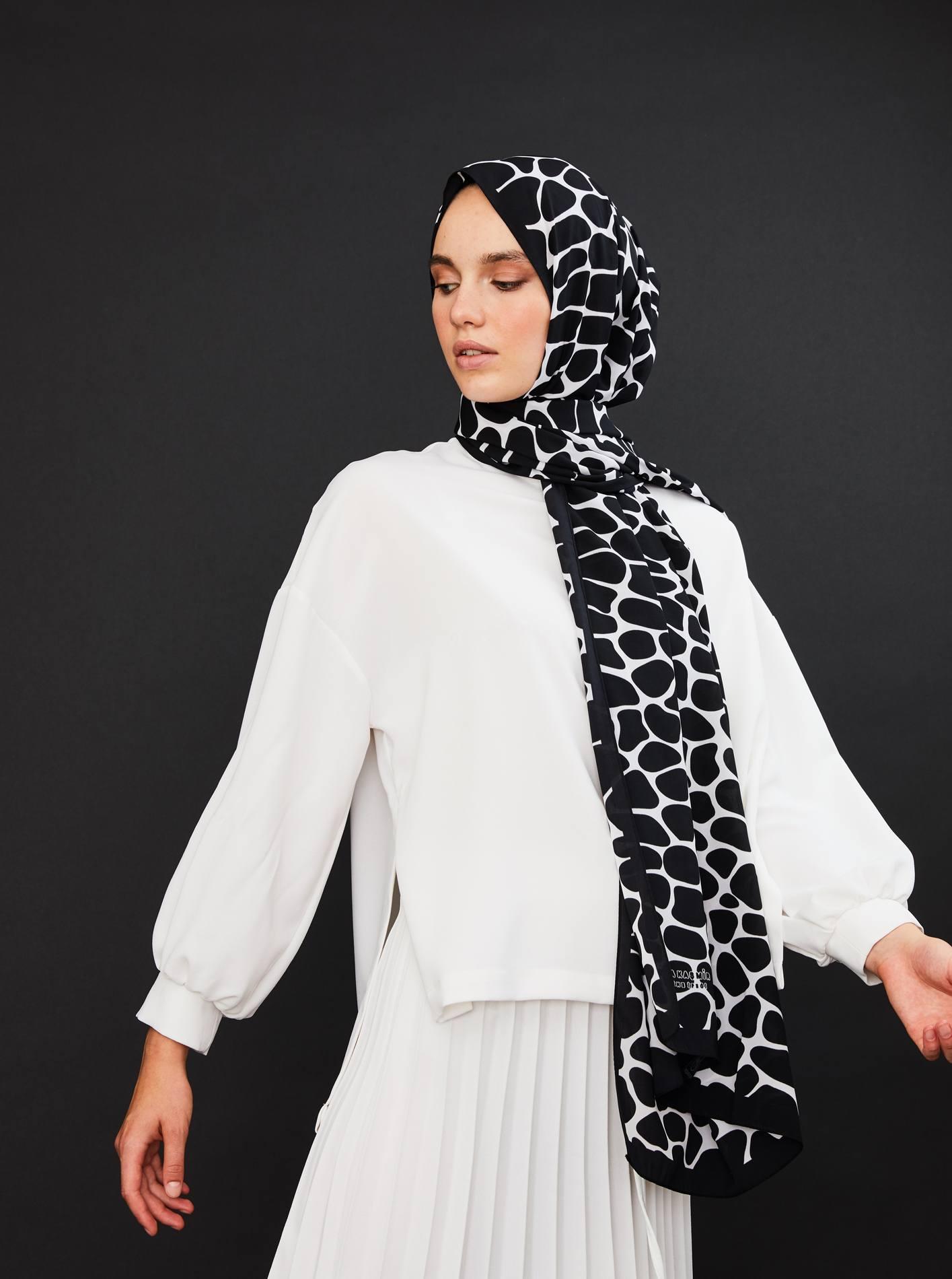 Zwart witte sjaal